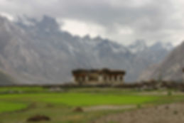 A small house in the high Zanskar Valley in Northern India