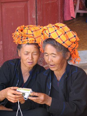 Two women in Myanmar