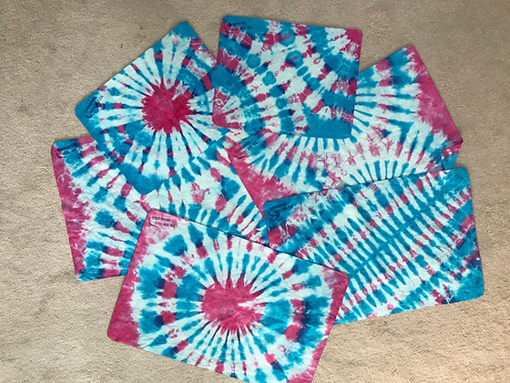 Pink/ Blue Tie Dye Shammies