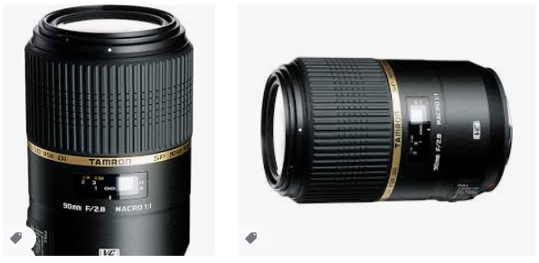 Tamron 90mm f / 2.8 SP Di Macro VC USD Canon için Lens