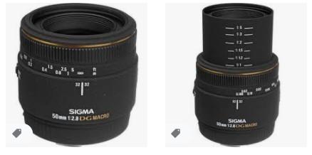 Canon EOS için Sigma Normal 50mm f / 2.8 EX DG Makro Otomatik Odaklı Lens