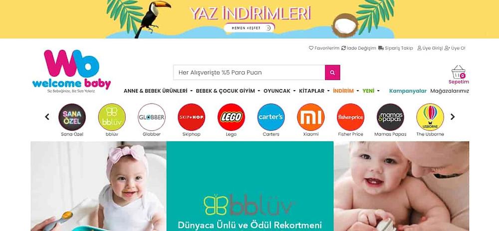 En iyi Bebek Alışveriş sitesi Welcome Baby