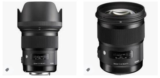 Canon Kameralar için Sigma 50mm F1.4 DG HSM Sanat Lensi