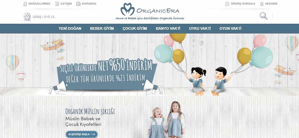 En iyi bebek alışveriş sitesi Organic Era