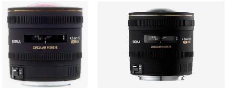 Sigma 4.5mm F2.8 EX DC HSM Dairesel Balıkgözü Lens