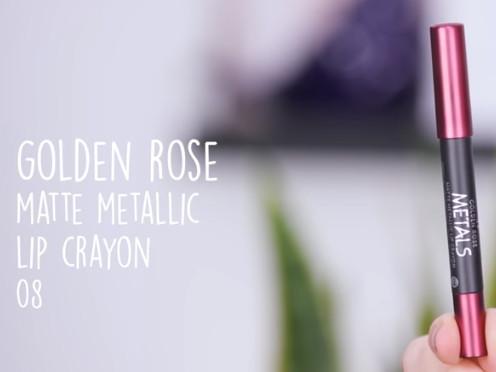 Golden Rose Matte Metallic Lip Crayon 08