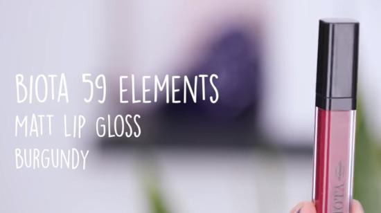 Biota 59 Elements Matt Lip Gloss Burgundy