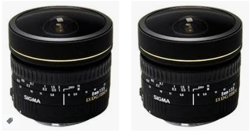 Sigma 8mm f / 3.5 EX DG CIRC BALIK GÖZÜ LNS f / CAN
