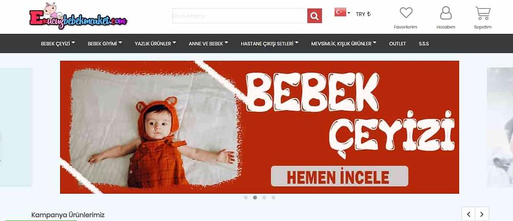 En iyi bebek alışveriş sitesi Enucuzbebekmarket