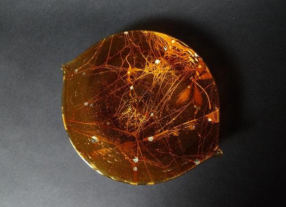 Urushi Glass Plate - Minamo  漆グラス皿-水面