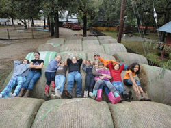 Laying on the hay bales