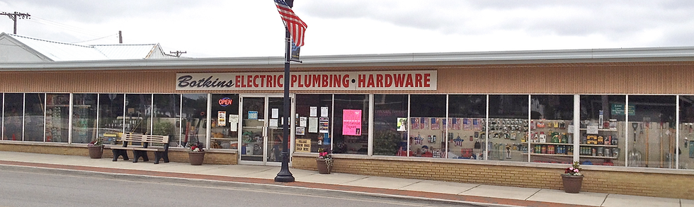 Botkins Electric & Plumbing, front view of store