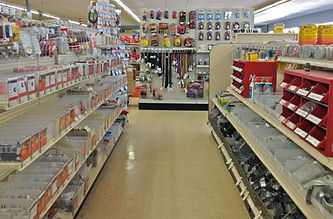 Botkins Electric & Plumbing store aisle.