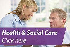 health and social care home page button.