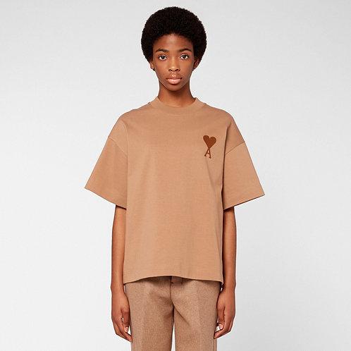 T-Shirt Oversize Ami de Coeur Camel / Ami Paris