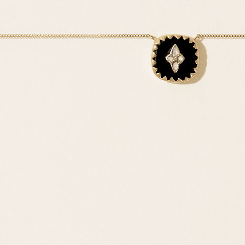 Collier Pierrot n°2 Noir Diamants / Pascale Monvoisin