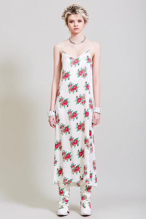 Slip Dress - Red Rose on Ecru / R13