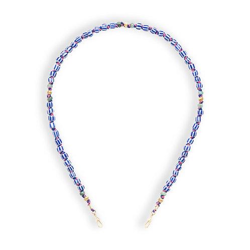 Mauli Full Beads Ghana blanc et bleu