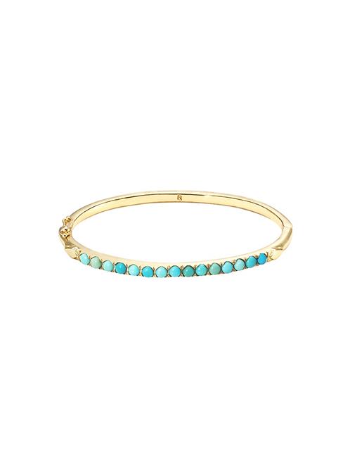 Bracelet Libanon Turquoise Cuff / Dorothée Sausset