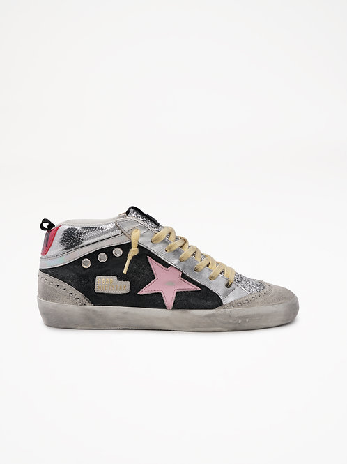 Mid Star Ice Black Pink / Golden Goose