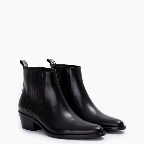 Jane 5 Boot Cuir Lisse Noires / FREE LANCE