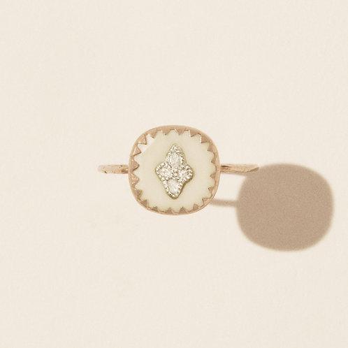 Bague Pierrot Blanc Diamants / Pascale Monvoisin