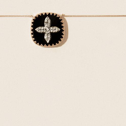 Collier Bowie Noir Diamants / Pascale Monvoisin