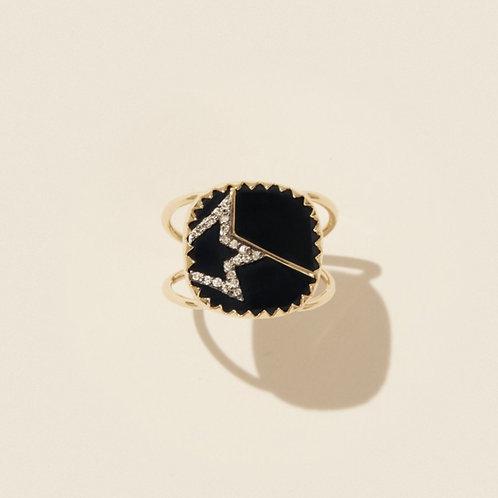 Bague Varda n°2 Noir Diamants / Pascale Monvoisin