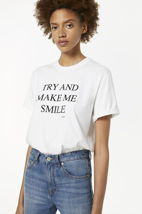 T-Shirt Try And Make Me Smile / Victoria Victoria Beckham