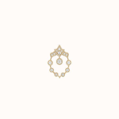BO ''Rêveuse'' or jaune et diamants