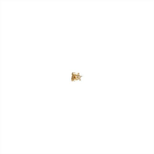 Boucle d'oreille Stud étoile diamants