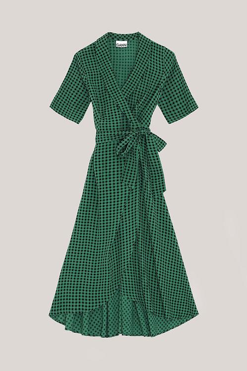 Robe Portefeuille Verte / Ganni