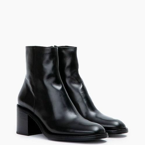 Chiara 6 Zip Boots Cuir Lisse Noires / FREE LANCE