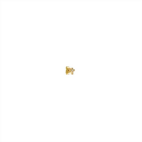 Boucle d'oreille mini Croix 1 diamant