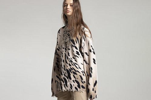 Cheetah Oversized Sweater / R13