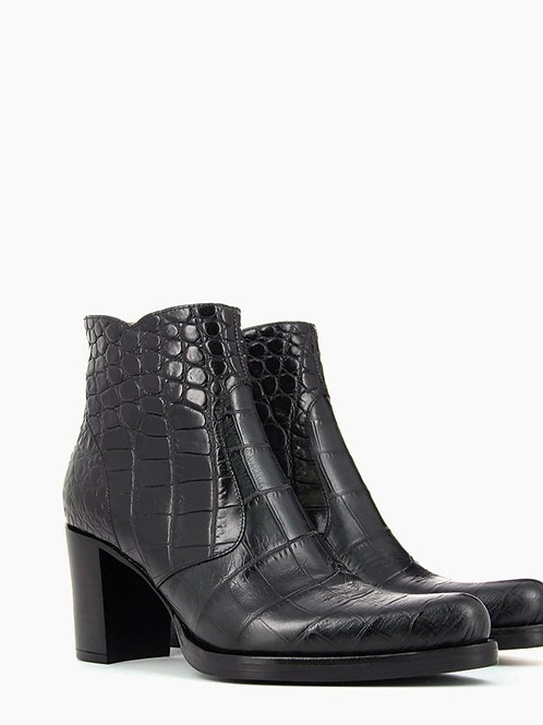 Paddy 7 Zip Boot Croco Noires / FREE LANCE