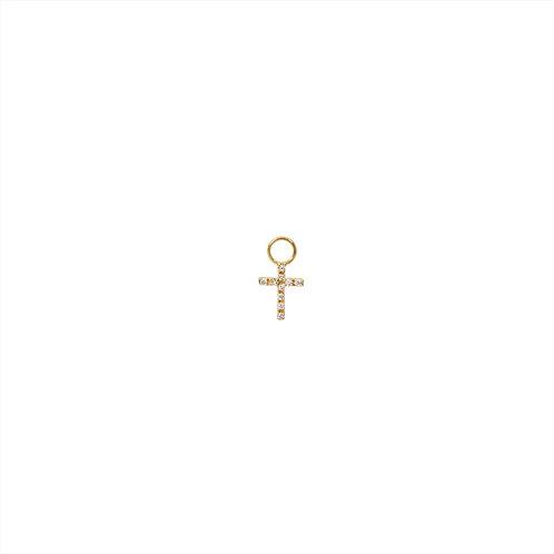 Charm croix diamants