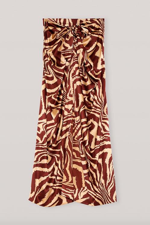 Silk Stretch Satin Skirt / Ganni