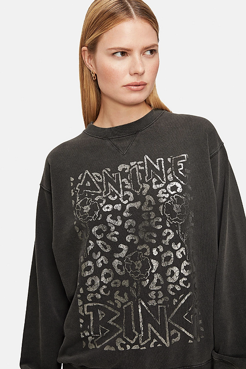 Ramona Sweatshirt - Leopard Print / Anine Bing