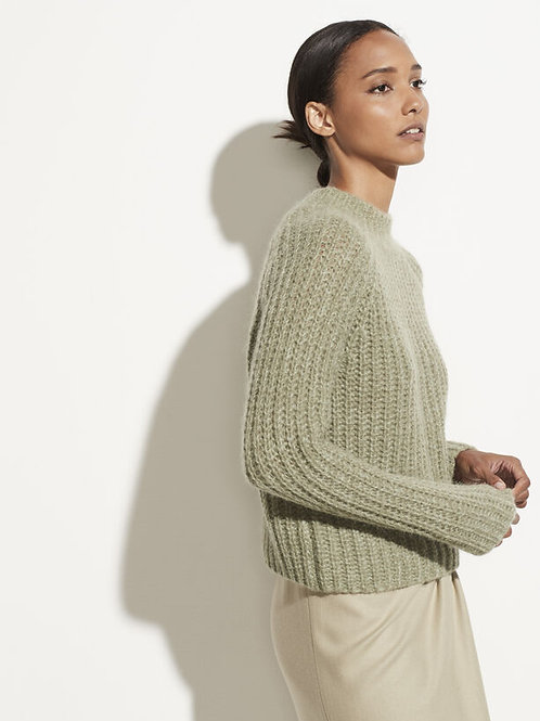 Pull col Cheminée Jade / Vince