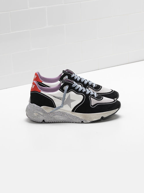 Running Sole White-Red-Silver / Golden Goose
