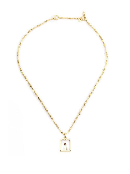 Collier Thali 1 Crystal - Garnet / Dorothée Sausset