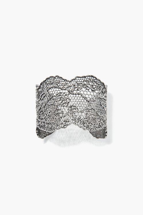 Bracelet Dentelle Vintage Argent / Aurélie Bidermann