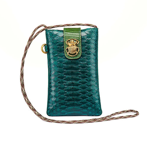 Phone Bag Marcus Green Blue / Claris Virot