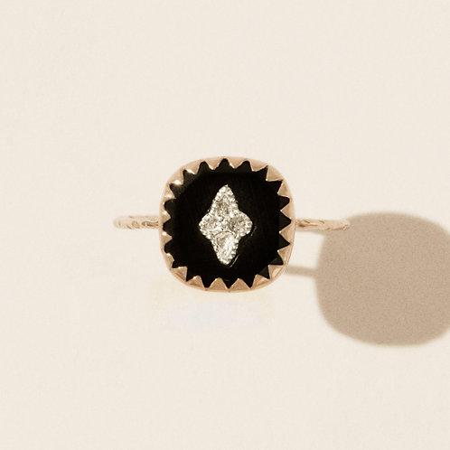 Bague Pierrot Noir Diamants / Pascale Monvoisin