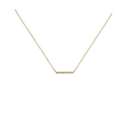 Collier Mini barre diamants