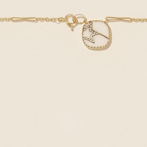 Collier Varda n°2 Blanc Diamant / Pascale Monvoisin