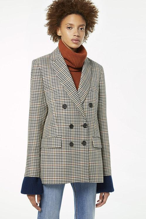 Veste boutonnée à carreaux / Victoria Victoria Beckham