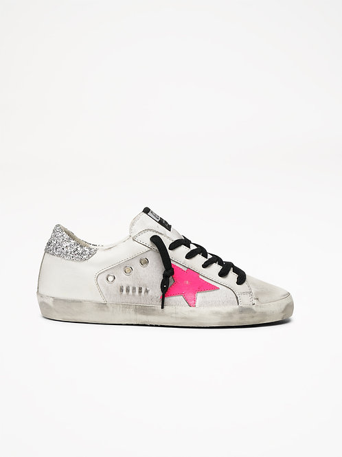 Superstar Canvas Pink Star / Golden Goose