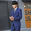 Thumbnail: Men Slim Fit Plaid Suit 2pc Set
